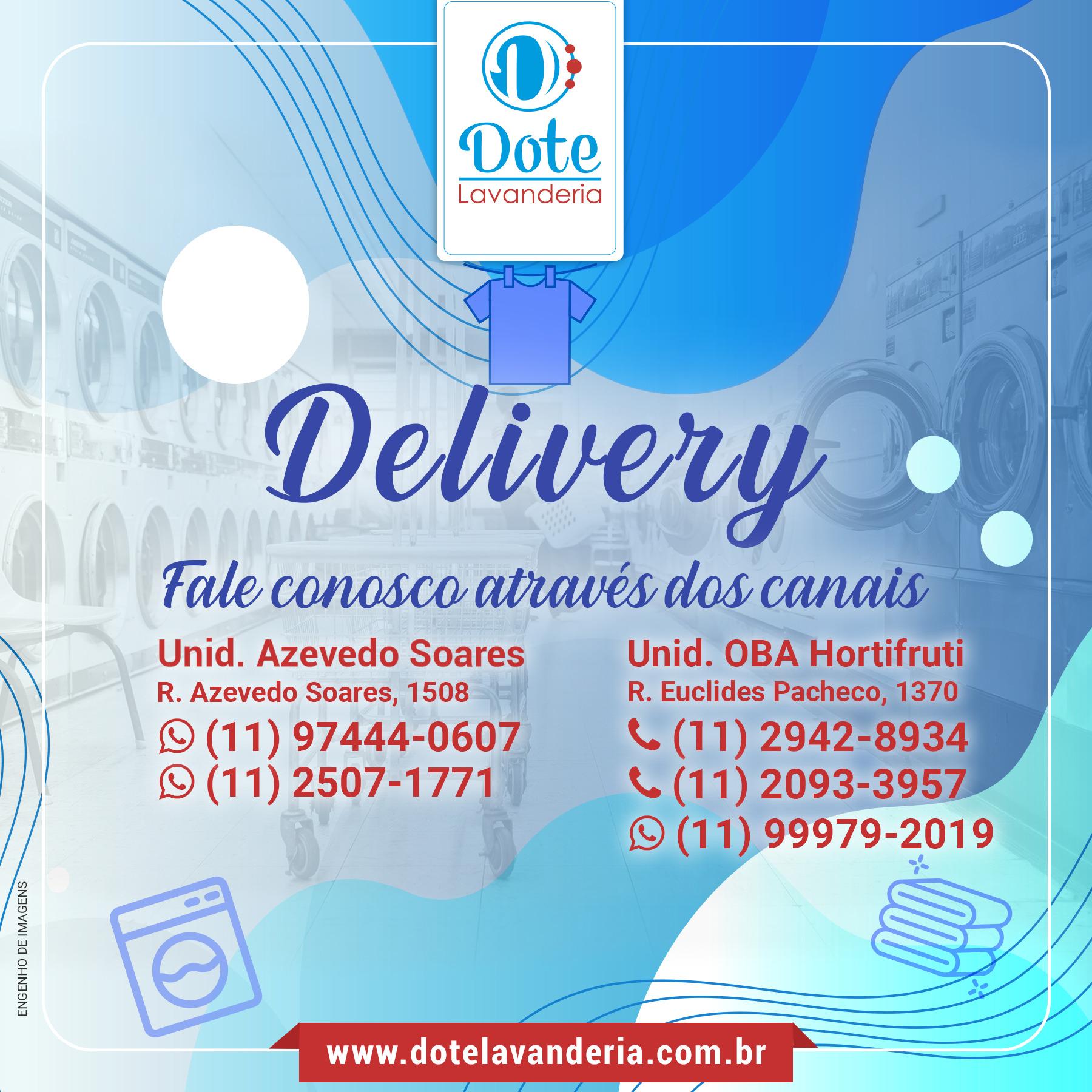 Delivery: fale conosco através dos canais